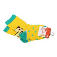 一护调皮小狗儿童袜1双装黄色(6-8岁)