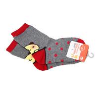 一护调皮小狗儿童袜1双装灰色(1-3岁)