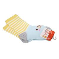 一护条纹小熊儿童袜1双装黄色(3-5岁)