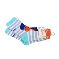 一护卡通小熊儿童袜1双装兰色(3-5岁)