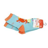 一护卡通小熊儿童袜1双装绿色(1-3岁)