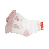 一护小碎花儿童袜1双装白色(3-5岁)