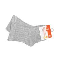 一护双针清新纯色婴童袜灰色(6-12)