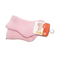 一护双针清新纯色婴童袜浅粉(6-8岁)