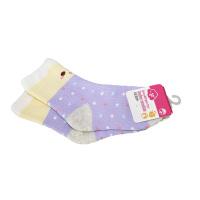 一护波点保暖儿童袜紫色(3-5岁)