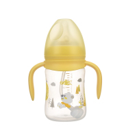 日康宽口有柄自动奶瓶(180ml)