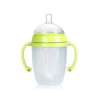 妈咪雅有柄自动仿乳广口硅胶奶瓶(250ml)